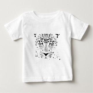 Ojos negros y blancos del leopardo tee shirt