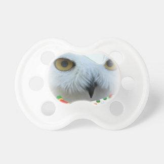 ojos nevosos del búho de Santa Chupetes De Bebé