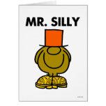 Ojos ocultados el   de Sr. Silly Tarjeta De Felicitación