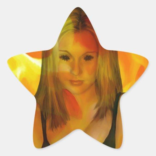 Ojos oscuros calcomania forma de estrella