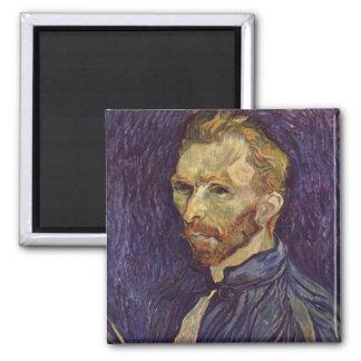 Ojos oscuros del autorretrato de Vincent van Gogh Imán
