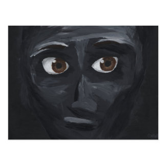 ojos oscuros tarjeta postal