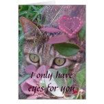 Ojos para usted tarjeta de la tarjeta del día de S