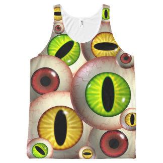 Ojos paranoicos del monstruo