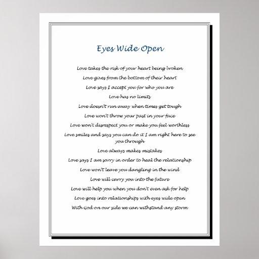 Ojos .pdf abierto de par en par póster
