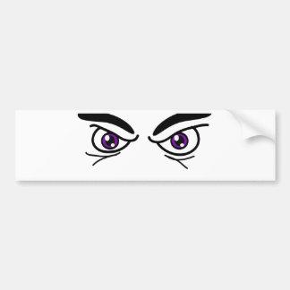 Ojos que amenazan etiqueta de parachoque