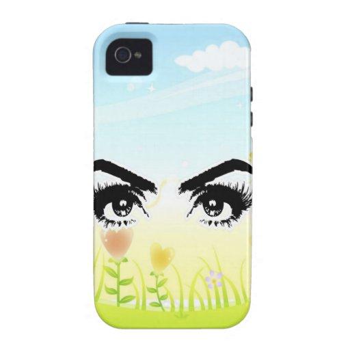 ojos que buscan para la paz del amor Case-Mate iPhone 4 fundas