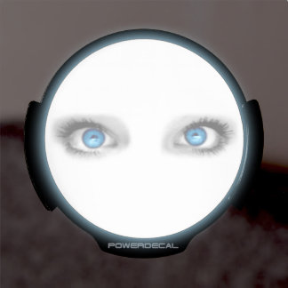 Ojos que miran fijamente divertidos pegatina LED para ventana