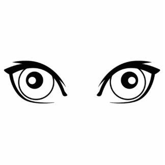 Ojos que miran fijamente escultura fotográfica
