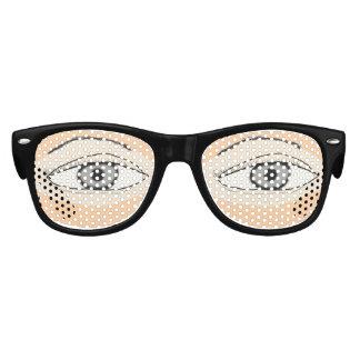 Ojos que miran fijamente lentes de fiesta