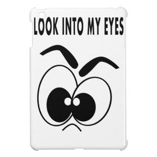 ojos raros de la cáscara del iPad del mini dibujo