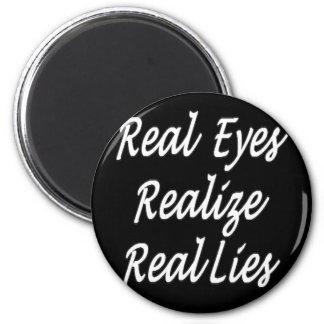 Ojos reales imán redondo 5 cm