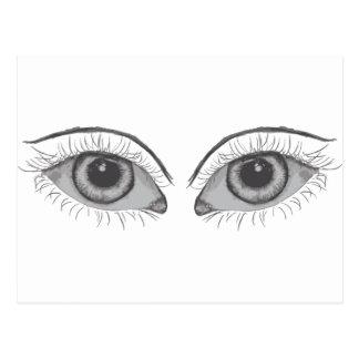 ojos rojo oscuro tarjetas postales