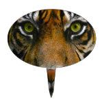 Ojos salvajes del tigre decoraciones de tartas