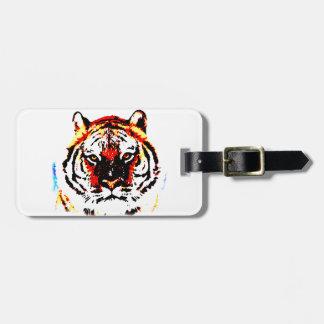 Ojos salvajes del tigre etiquetas para maletas