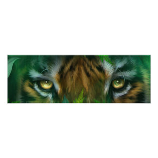 Ojos salvajes - impresión poster del arte del tigr impresion fotografica