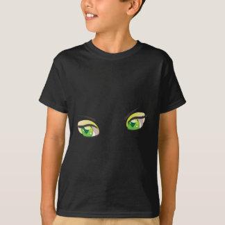 Ojos verdes 2 del dibujo animado playera