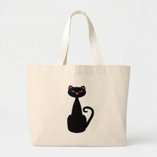 Ojos verdes del gato negro bolsa