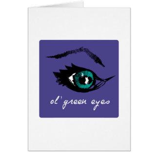 ojos verdes del o'l tarjeton