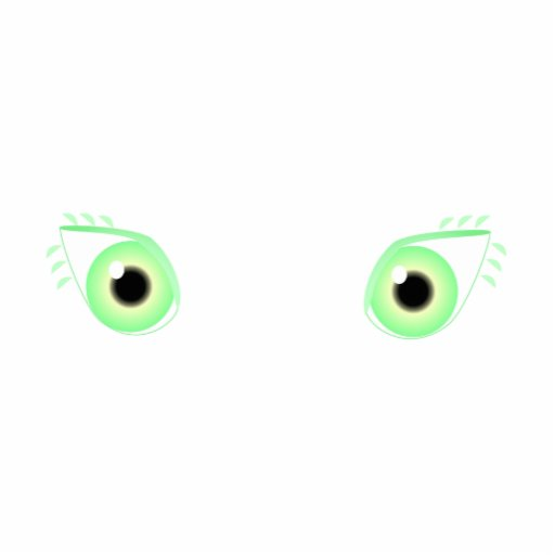 Ojos verdes en colores pastel bonitos adorno fotoescultura