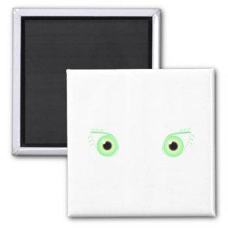Ojos verdes en colores pastel bonitos iman para frigorífico