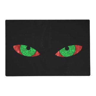 Ojos verdes malvados salvamanteles