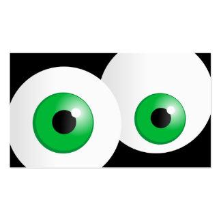 Ojos verdes tarjetas de visita