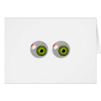 ojos verdes tarjeta de felicitación