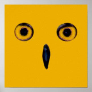 Ojos viejos sabios del búho posters
