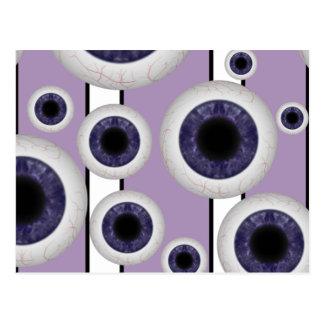 Ojos violetas tarjetas postales