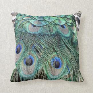 Ojos y plumas del pavo real almohadas