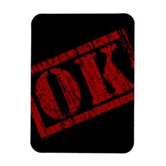 ok-477504 OK GRUNGE OKAY GANGSTER SLANG STAMP SHOU Magnet