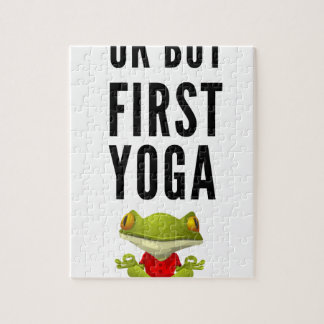 Ok But First Yoga Jigsaw Puzzle