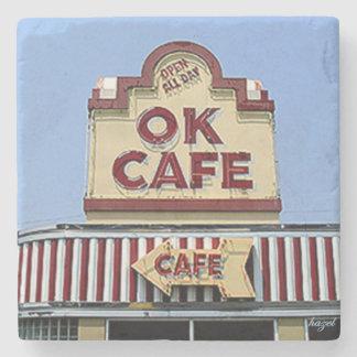 OK Cafe, Buckhead Atlanta Landmark Stone Coaster