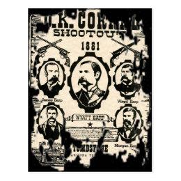 OK Corral Shootout Postcard