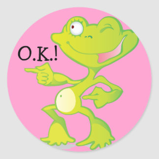 OK Frog Reward Stickers