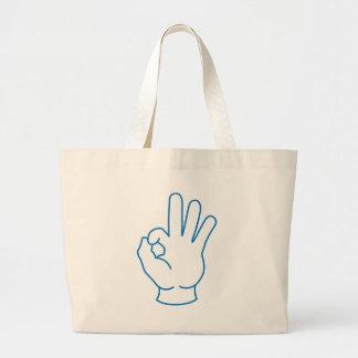 Ok Hand Large Tote Bag