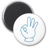Ok Hand Refrigerator Magnets