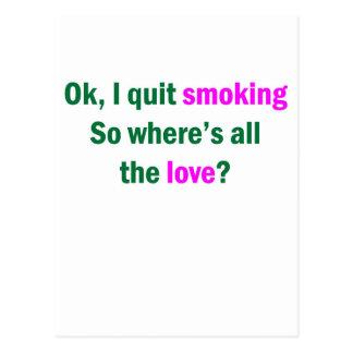Ok, I quit smoking Postcard
