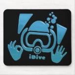 OK iDive Beveled Blu Scuba Mouse Pad