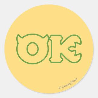 OK Logo Classic Round Sticker