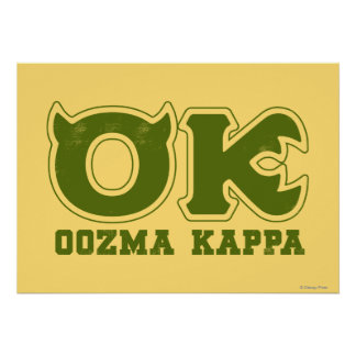 OK - OOZMA KAPPA Logo Poster