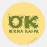 OK - OOZMA KAPPA Logo Round Stickers