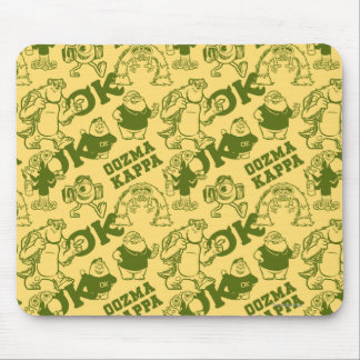 OK OOZMA KAPPA Pattern - Yellow Mouse Pad
