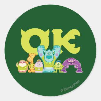 OK - Scare Students Classic Round Sticker