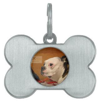 OK_THEN Boston Terrier Placa De Mascota