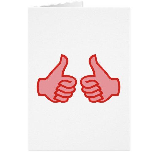 OK thumbs highly thumbs UP Card