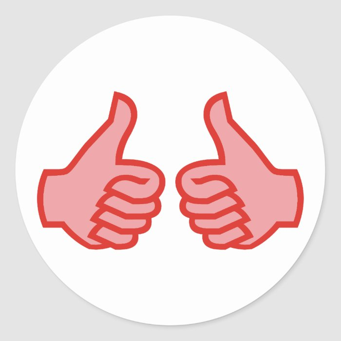 OK thumbs highly thumbs UP Classic Round Sticker