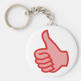 OK thumbs highly thumbs UP Keychain