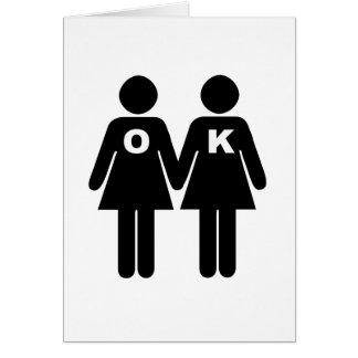 OK TO BE GAY (lesbian) Greeting Card